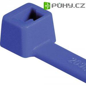 Stahovací pásky HellermannTyton T80L-N66-BU-C1, 390 x 4,6 mm, 100 ks, modrá