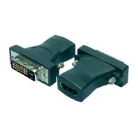 HDMI / DVI adaptér LogiLink AH0001, [1x HDMI zásuvka - 1x DVI zástrčka 24+1pólová], černá