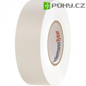 Izolační páska HellermannTyton HelaTapeFlex 1000+, 710-00607, 19 mm x 20 m, bílá