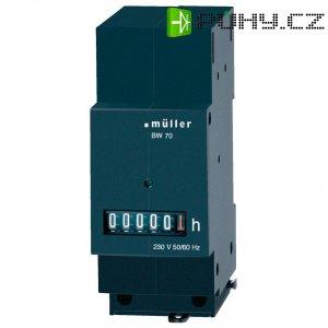 Počítadlo provozních hodin Müller BW7029, 230 V/50 - 60 Hz, 35 x 45 mm