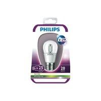 LED žárovka Philips E27, 4 W, teplá bílá, čirá