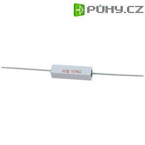 Rezistor, 220 Ω, 10 %, axiální vývody, 5 W, 10 %
