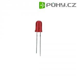 LED dioda s vývody, 7,5 mA, 3 mm, 60 °, modrá