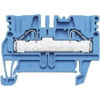 Průchozí svorka řadová Weidmüller PDU 2.5/4 BL (1896230000), 5,1 mm, modrá