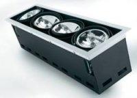 Halogenové vestavné světlo Downlight Croux AR111, 4 x100 W, G5.3, černá/bílá