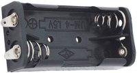 Držák baterie 2xR03/AAA/UM4 s pájecími očky