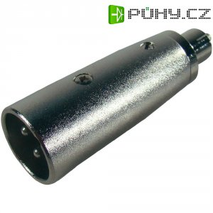 Adaptér Paccs HFA0300 [1x XLR zástrčka - 1x cinch zástrčka], stříbrná