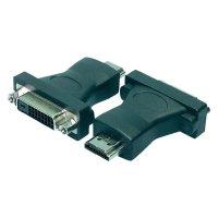DVI / HDMI adaptér LogiLink AH0002, [1x DVI zásuvka 24+1pólová - 1x HDMI zástrčka], černá