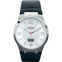Ručičkové náramkové DCF hodinky Eurochron EFAUT 3300, kožený pásek
