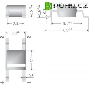 Můstkový usměrňovač Diotec MS500, Super-MicroDIL, 500 mA, U(RRM) 1000 V