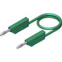 Měřicí kabel banánek 4 mm ⇔ banánek 4 mm SKS Hirschmann CO MLN 50/2,5, 0,5 m, zelená