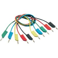 Měřicí kabel banánek 4 mm ⇔ banánek 4 mm SKS Hirschmann CO MLN 200/1, 2 m, modrá