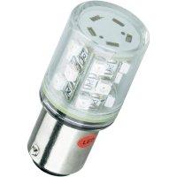 LED žárovka BA15d Barthelme, 52162411, 230 V, 5000 mcd, červená