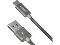 Kabel USB A 2.0 - USB C 1m YENKEE YCU 301 GY