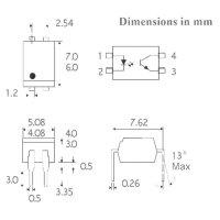 Optočlen Isocom Components ISP817BXSMT/R, DIL 4 SMD
