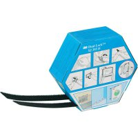 Lepicí pásek se suchým zipem 3M SJ 355D Dual Lock 7000070524, (d x š) 5000 mm x 25 mm, černá, 1 pár