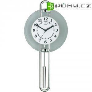 Kyvadlové quarz hodiny pendlovky, stříbrná/ bílá