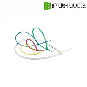 Stahovací pásky KSS-CV368, 368 x 4,8 mm, 100 ks, transparentní