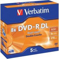 Verbatim DVD-R DL 8,5GB 8X 5 ks v krabičce