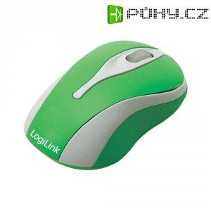 USB myš optická LogiLink ID0024, s podsvícením, zelená