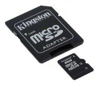 Karta paměťová KINGSTON Micro SDHC 8GB Class 4 + adaptér