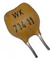 120pF/63V WK71411, slídový kondenzátor