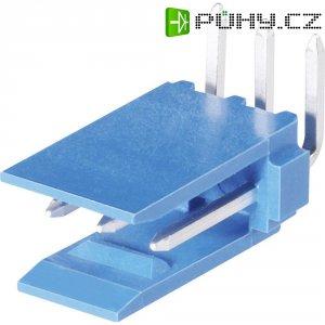 Kolíková lišta HE14 TE Connectivity 1-281698-0, úhlová, 2,54 mm, 3 A, modrá