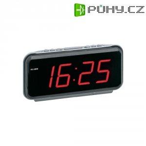Digitální LED budík, 1159, 230 V, 21 x 10,5 cm, černá/červená