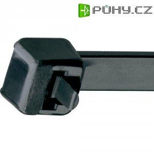 Rozepínací stahovací pásek UV odolný Panduit PRT4H-L0, 368 x 7,6 mm, černá