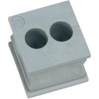Kabelová objímka Icotek KT 2/6 (41201), 21 x 21 mm, šedá