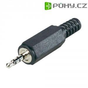 Jack konektor 2,5 mm stereo BKL 1107020, zástrčka rovná, 4pól., černá