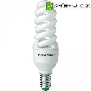 Úsporná žárovka spirálovitá Megaman Spirax E14, 11 W, super teplá bílá