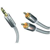 Kabel jack 3,5 mm ⇒ 2x cinch, 1,5 m, stříbrný, Inakustik