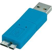 Adaptér USB 3.0, Micro B, modrý