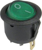 Vypínač kolébkový ON-OFF 1pol.250V/6A prosvětlený