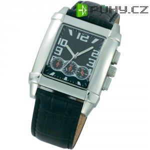 Ručičkové náramkové hodinky Chronograph, JS-164, kožený pásek