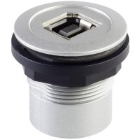 USB vestavný adaptér Schlegel RRJ_USB_BA, IP65, zásuvka Typ B  zásuvka Typ A, kov