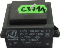 Trafo DPS 4,5VA 6V HAHN, 37x44x32mm