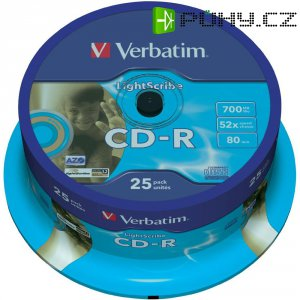 Verbatim CD-R80 700MB 52X 25 ks SP LIGHT