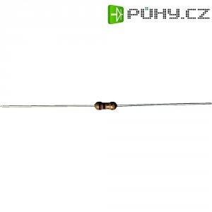 Uhlíkový rezistor, 220 Ω, 0207, axiální vývody, 0,25 W, 5 %