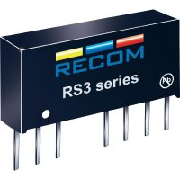 DC/DC měnič Recom RS3-0505S (10004005), vstup 4,5 - 9 V/DC, výstup 5 V/DC, 600 mA, 3 W