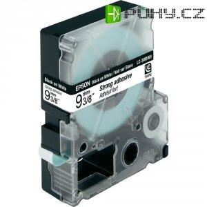 Páska do štítkovače LabelWorks LC-3WBW9, C53S624406, bílá/černá, 9 mm