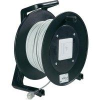 Kabelový buben CAT 6 S/FTP, ohnivzdorný, 50 m, šedá