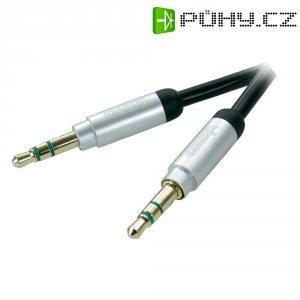 Připojovací kabel Vivanco, jack zástr. 3.5 mm/jack zástr. 3.5 mm, černý, 1,5 m