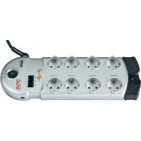 Zásuvková lišta s přepěťovou ochranou APC Performance, 1406768, 8 zásuvek, stříbrná