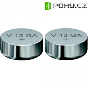 Knoflíková baterie LR44, Varta AG13, alkalicko-manganová, 2 ks, 4276101402