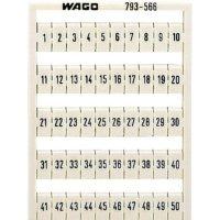 Karta pro značení Wago 793-5569, bílá