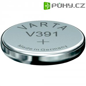 Knoflíková baterie 391, Varta SR55, na bázi oxidu stříbra, 00391101111