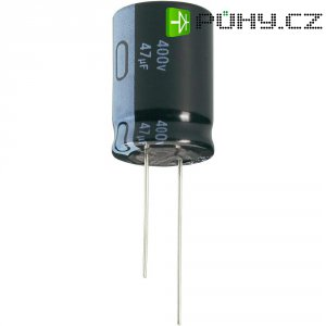 Kondenzátor elektrolytický Jianghai ECR2GLK470MFF751631, 47 µF, 400 V, 20 %, 31,5 x 16 mm