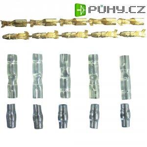 Zástrčky a konektory kabelů k motorům Modelcraft, 5 párů